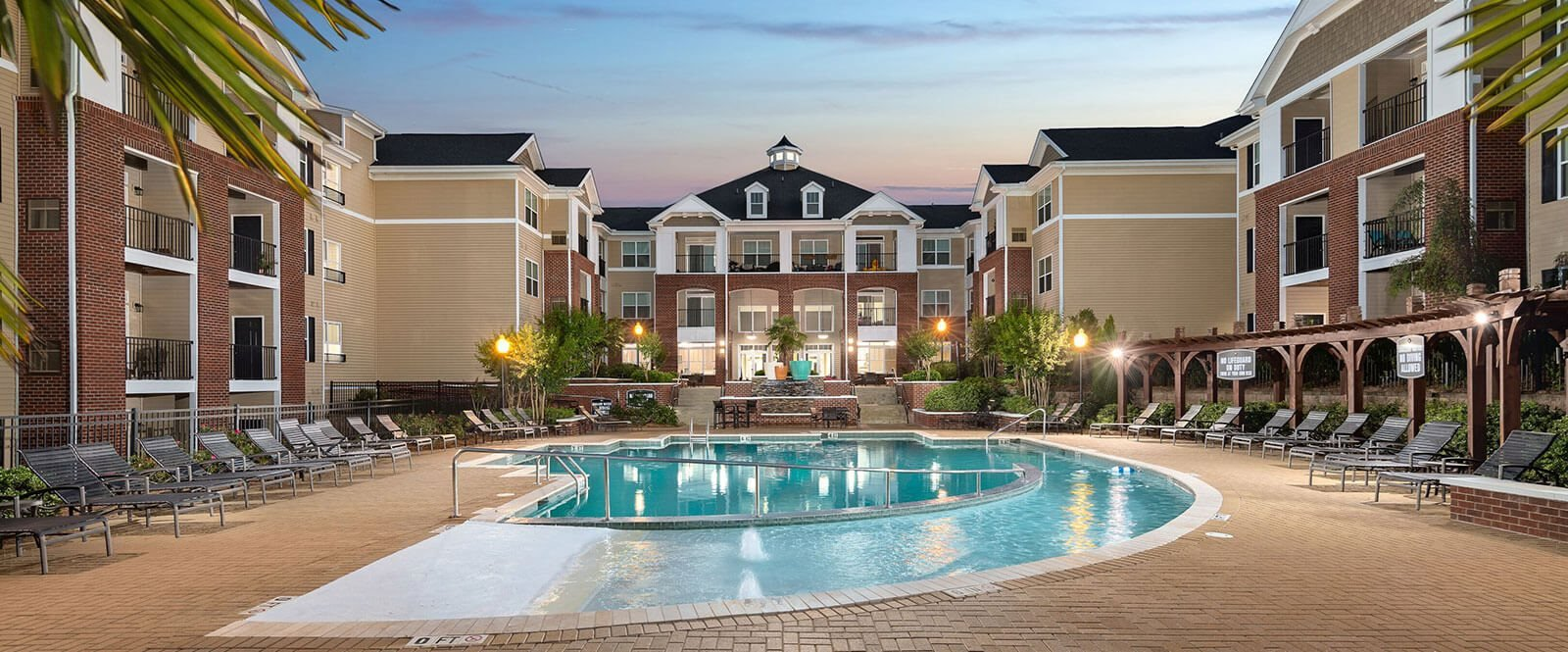 Extensive Resort Inspired Pool Deck at Abberly CenterPointe Apartment Homes by HHHunt, Virginia