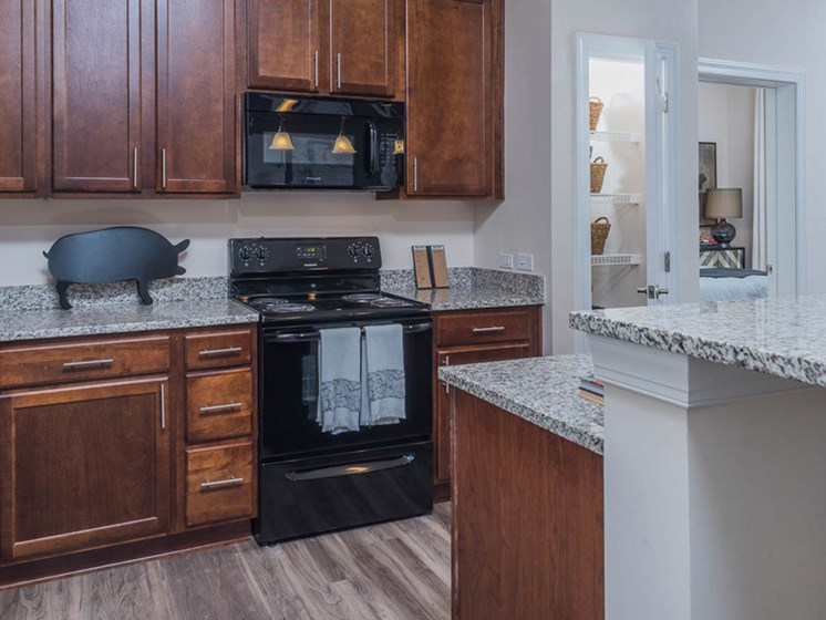 Black Appliances at Abberly CenterPointe Apartment Homes, Virginia