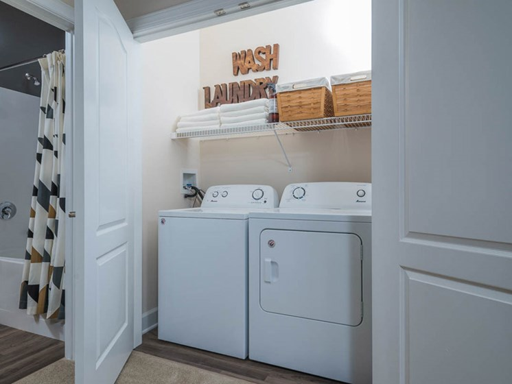 Washer and Dryer in Every Home at Abberly CenterPointe Apartment Homes, Midlothian