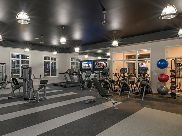 24 Hour Fitness Center at Abberly CenterPointe Apartment Homes, Midlothian, VA, 23114