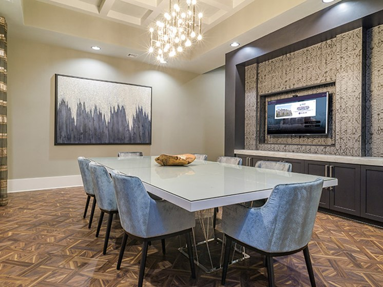 Conference Room at Abberly CenterPointe Apartment Homes, Midlothian, 23114