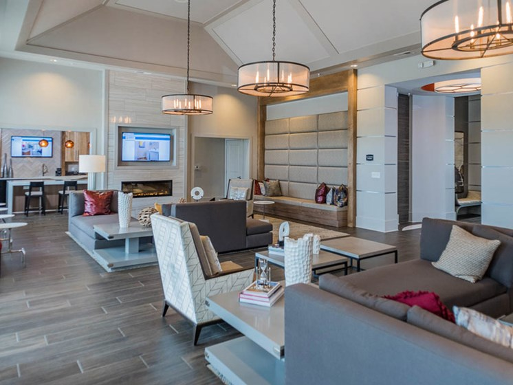 Spacious Lounge Area at Abberly CenterPointe Apartment Homes, Virginia