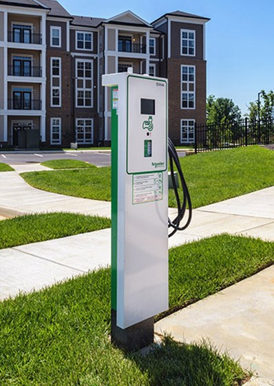 Car Charging Stations at Abberly CenterPointe Apartment Homes, Virginia