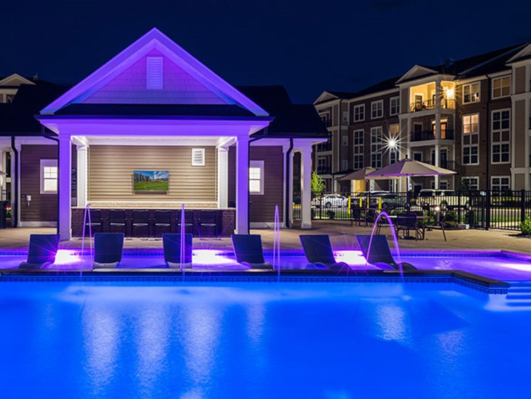 Invigorating Pool with Sun Deck at Abberly CenterPointe Apartment Homes, Midlothian, Virginia
