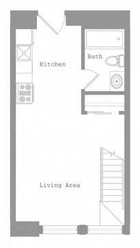 1 Bed - Lower Level