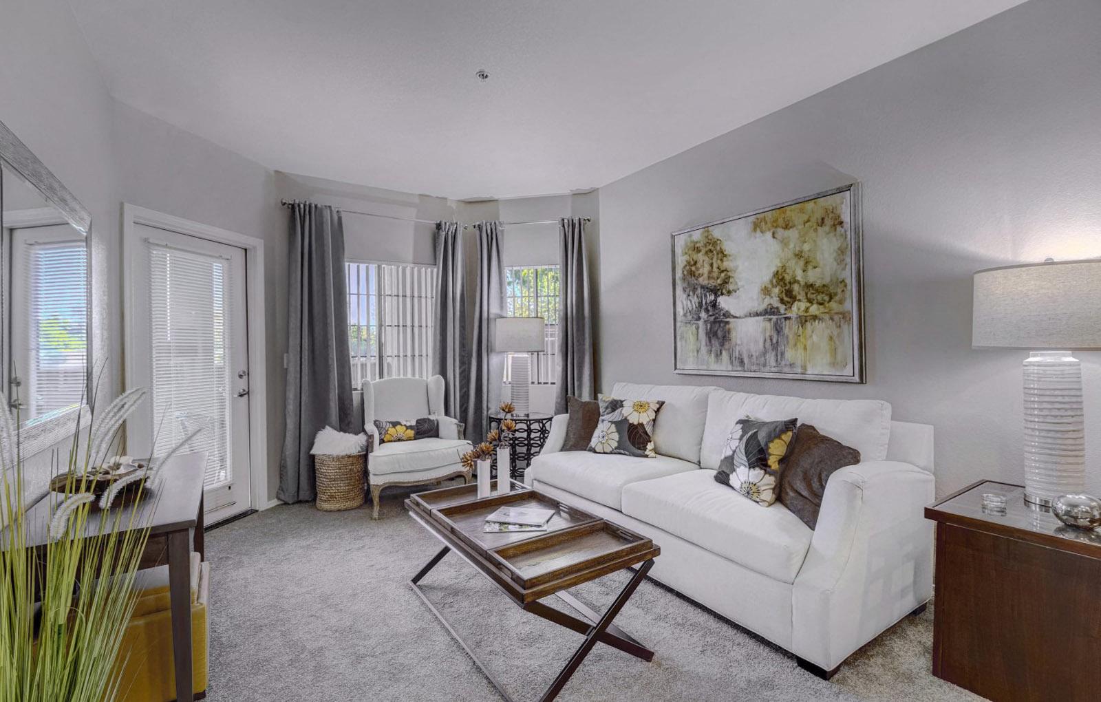 Living Room At Prescott Lakes Apartments In Prescott, AZ