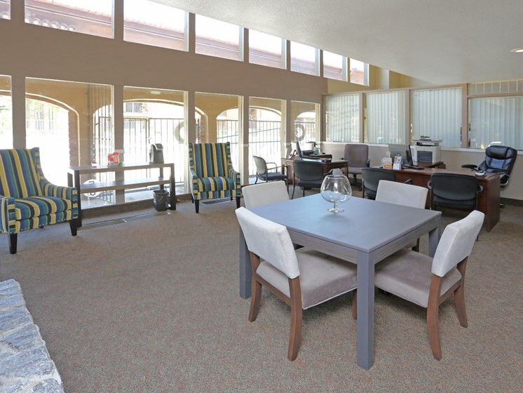 Clubhouse at Canyon Vista Apartments in Albuquerque, NM