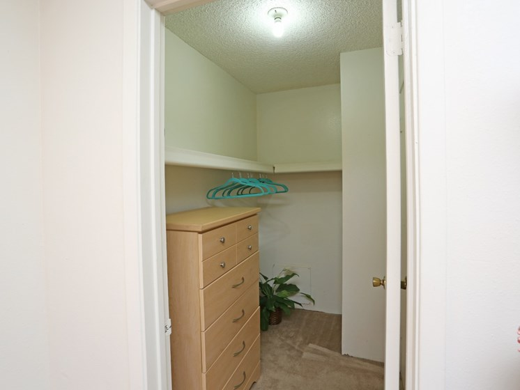 Walk-In Closet at Canyon Vista Apartments in Albuquerque, NM