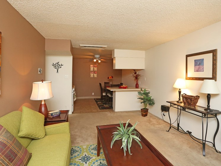 Living Room at Canyon Vista Apartments in Albuquerque, NM