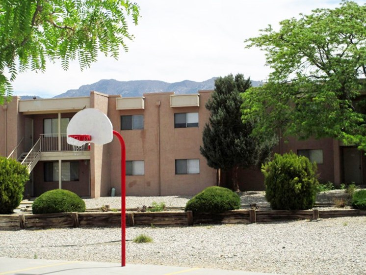 Basketball Court at Canyon Point Apartments in Albuquerque, NM