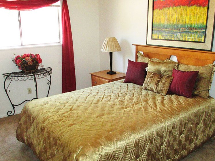 Bedroom at Canyon Point Apartments in Albuquerque, NM