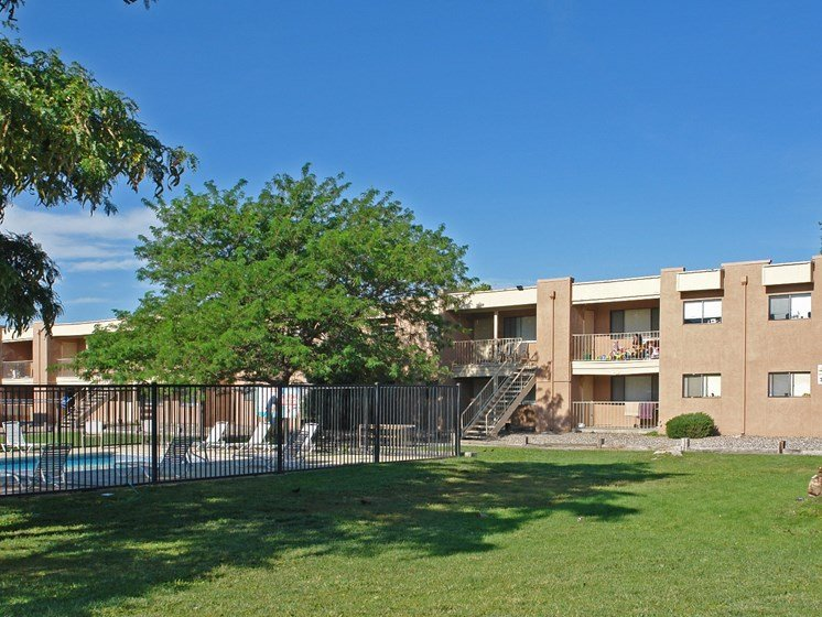 Exterior & Landscaping at Canyon Point Apartments in Albuquerque, NM