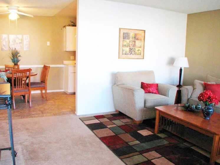 Living Room at Canyon Point Apartments in Albuquerque, NM