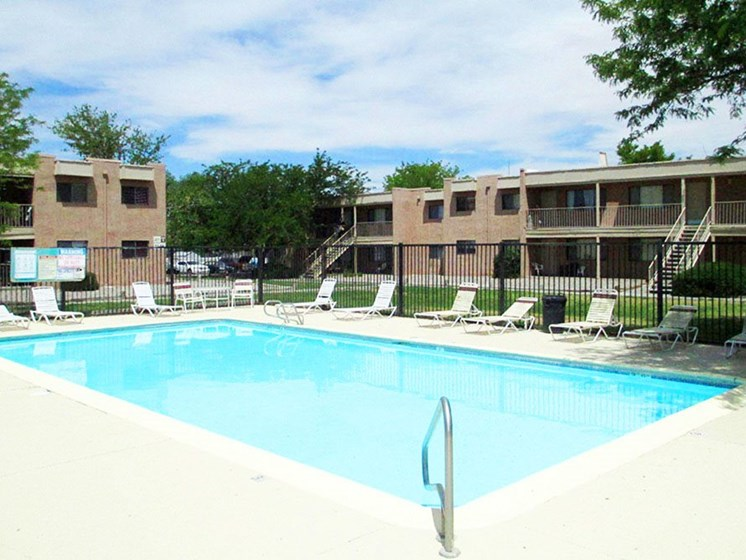 Pool & Pool Patio at Canyon Point Apartments in Albuquerque, NM