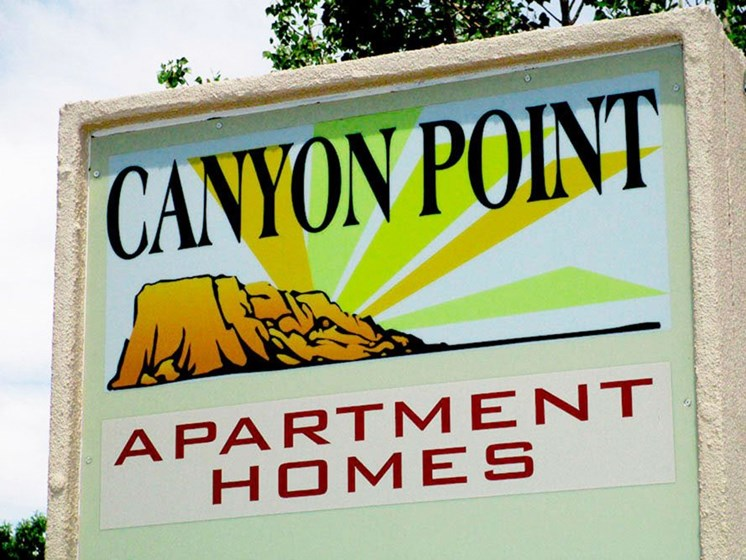 Signage at Canyon Point Apartments in Albuquerque, NM