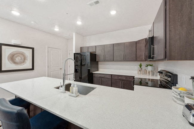 Kitchen counter in model unit