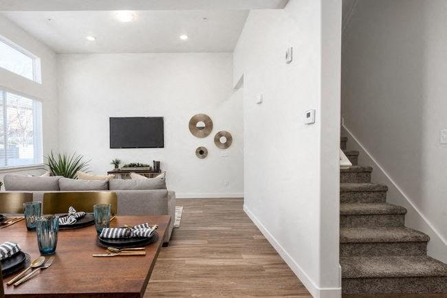 Lving room in model unit