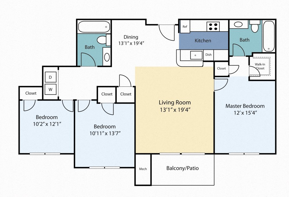 Three Bedroom Sage Floor Plan 7
