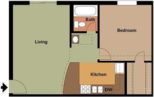 A2 1 Bedroom