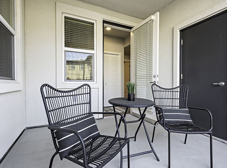 Outside Patio with Chairs and Table