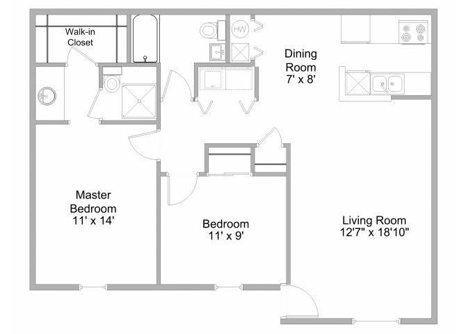 2-Bedroom Townhome