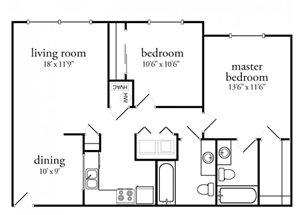 2 Bedroom 2 Bath Premium