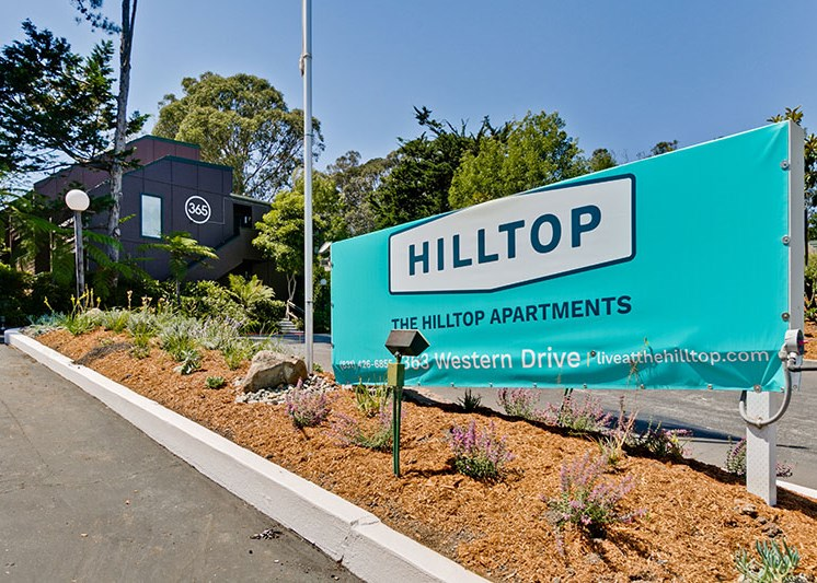 Entrance to community l The Hilltop Apartments Santa Cruz
