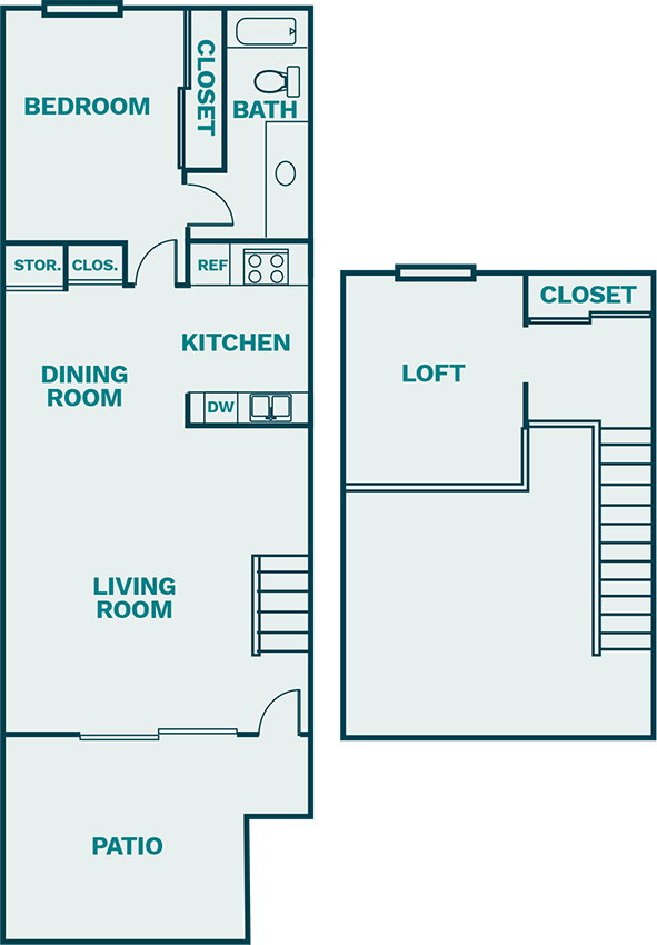 The Shoreline - Loft Style Floor Plan 2