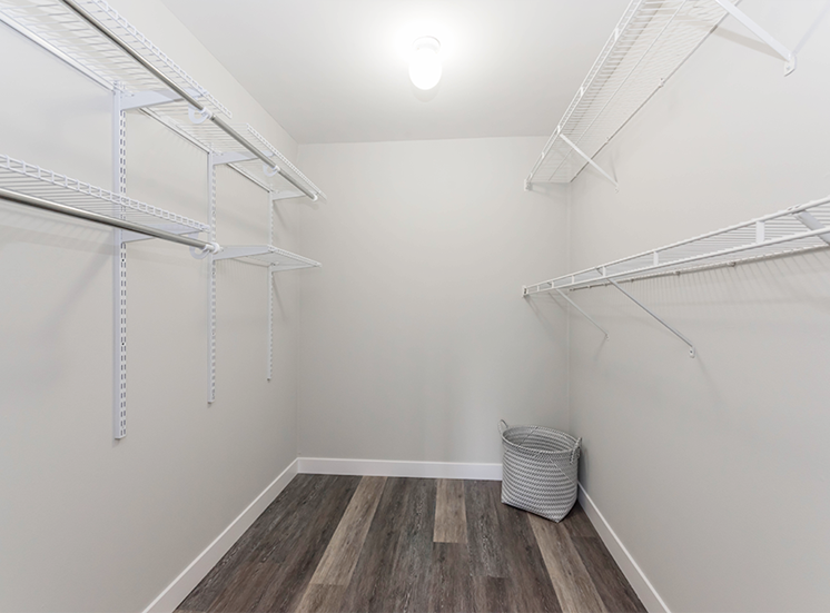 Master bedroom's walk in closet