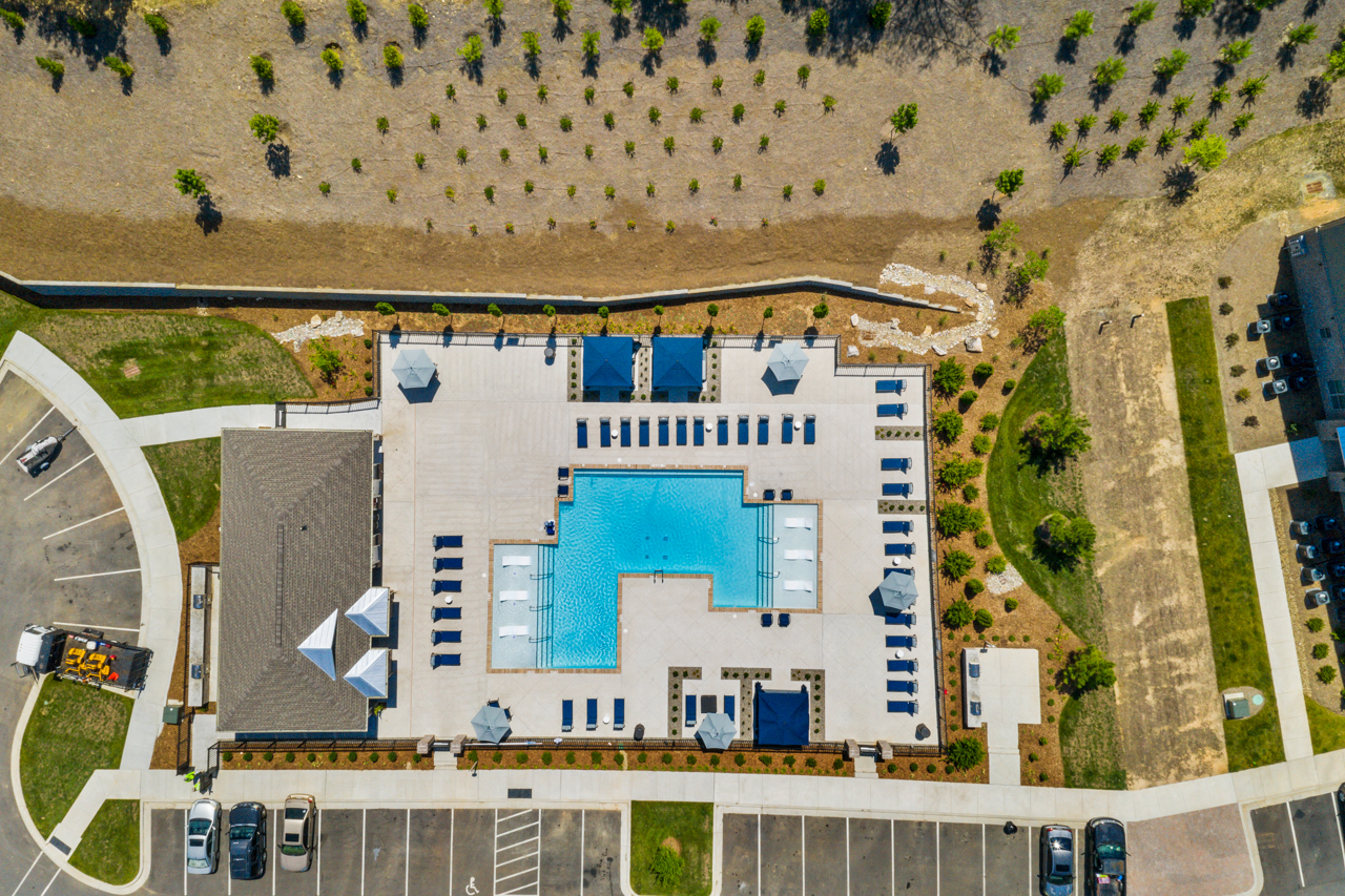 Aerial view of The Lodges at Lake Wylie in Lake Wylie, SC