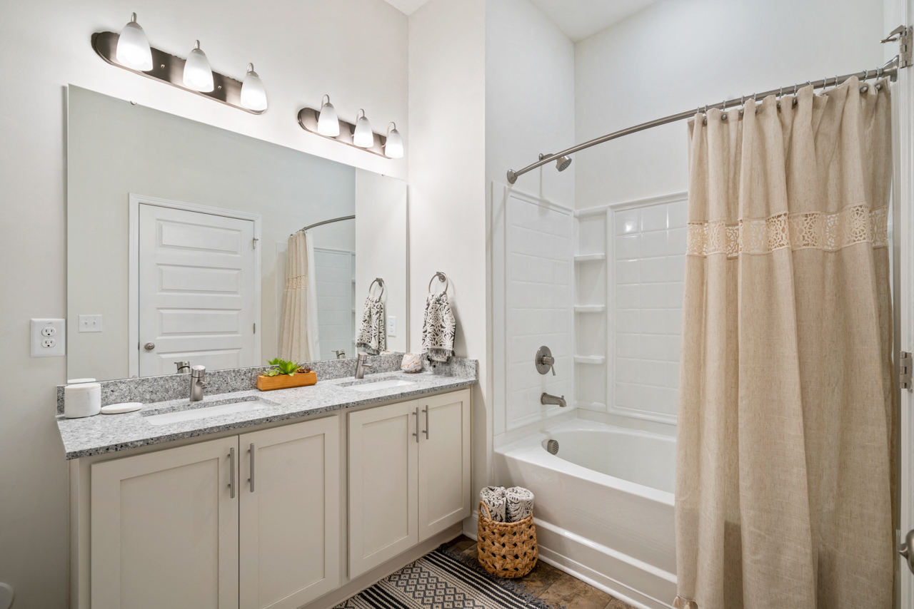 Spacious bathroom at The Lodges at Lake Wylie in Lake Wylie, SC
