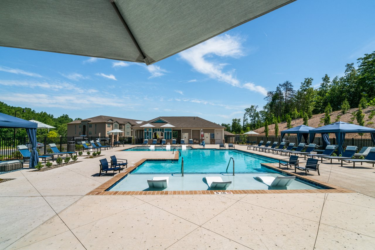 Sparkling swimming pool at The Lodges at Lake Wylie in Lake Wylie, SC