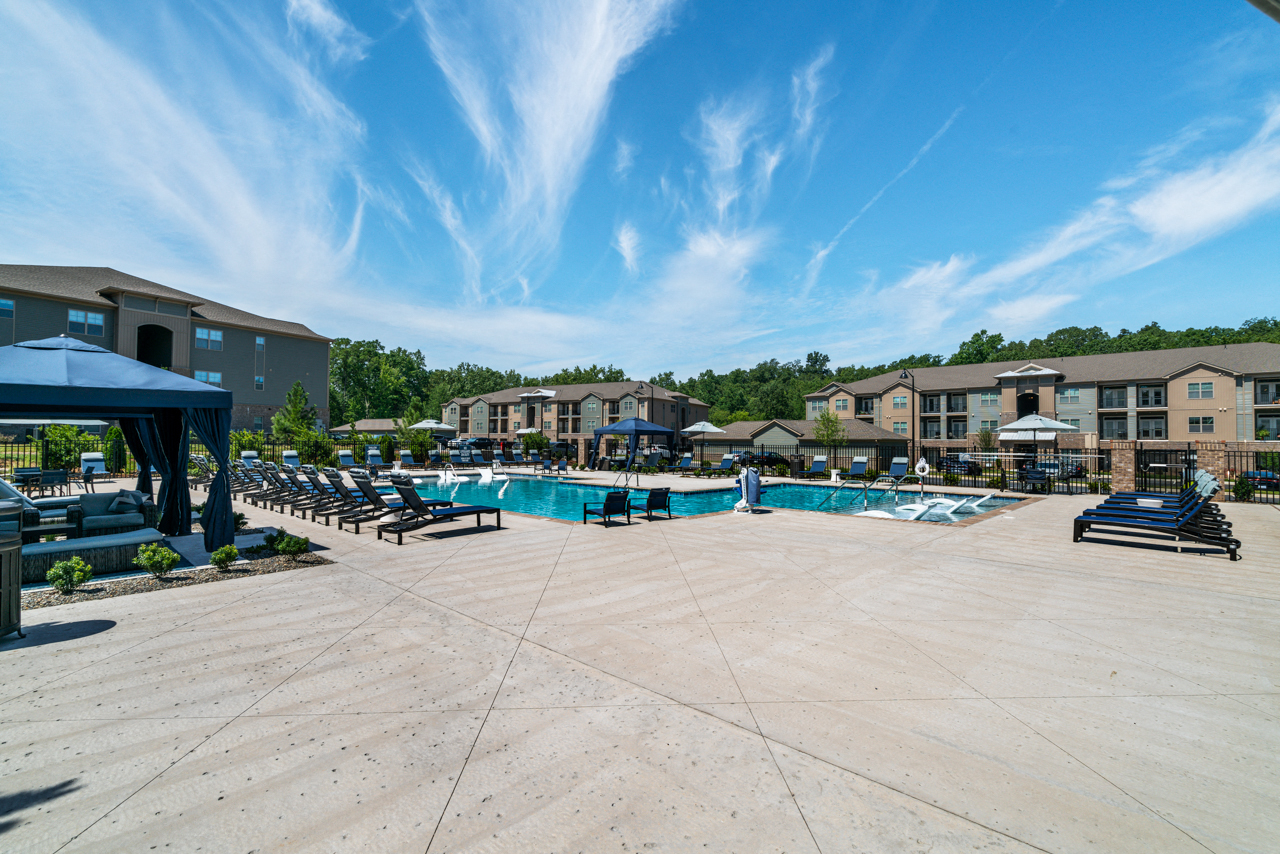 Spacious sundeck at The Lodges at Lake Wylie in Lake Wylie, SC