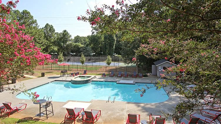 Relaxing Pool Area With Sundeck at 23Thirty Cobb, Smyrna, GA