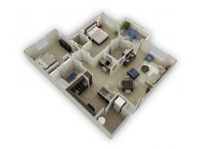 Floor plan at Spectra on 7th, Phoenix, AZ 85024