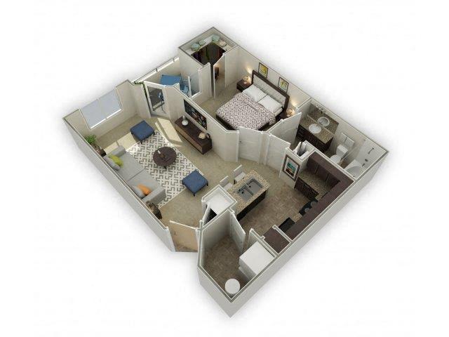 Floor plan at Spectra on 7th, Phoenix, 85024