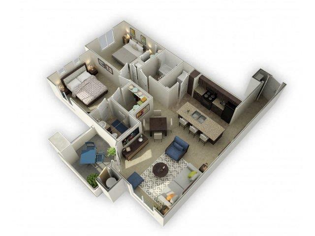 Floor plan at Spectra on 7th, Arizona, 85024