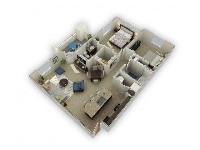 Floor plan at Spectra on 7th, Phoenix, Arizona