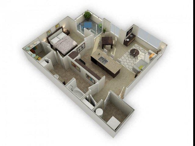 Floor plan at Spectra on 7th, Phoenix
