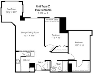 Two Bedroom Z