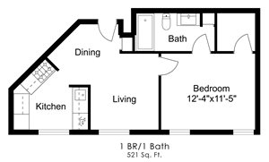 One Bedroom D