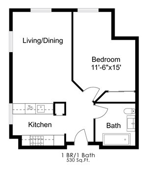 One Bedroom E