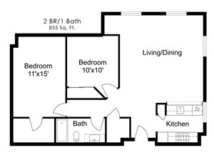 Two Bedroom U
