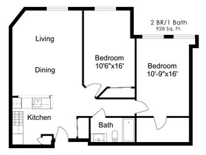 Two Bedroom W