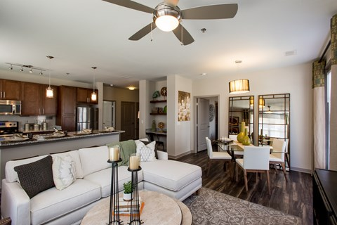 Greenhaven Model Kitchen, Dining and Living Area
