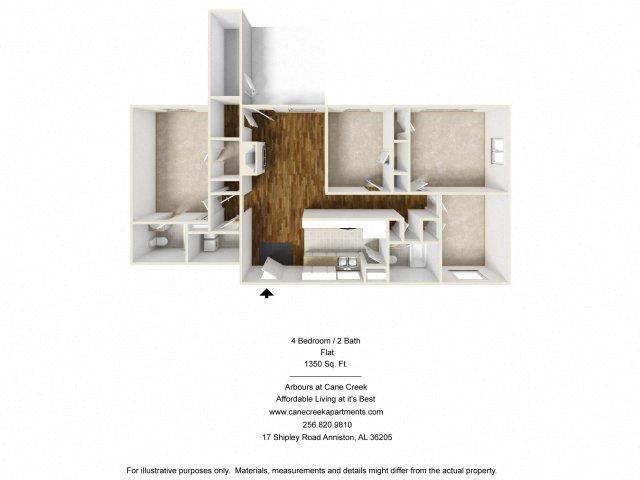 4 BEDROOM Floor Plan 3