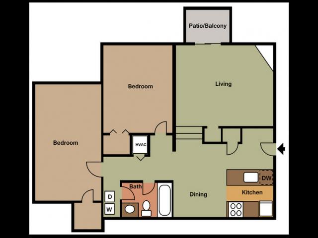 2X1D Floor Plan 4