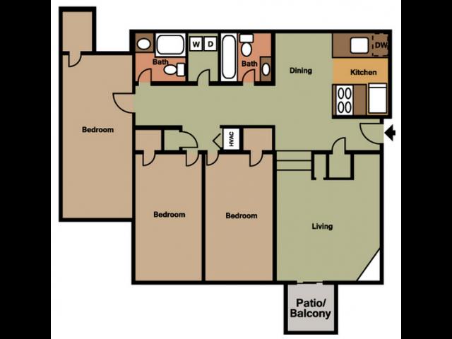 3X2 Floor Plan 5