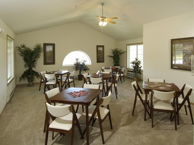 Multi-Purpose Room With Public Dining Area at Wildwood Highlands Apartments & Townhomes 55+, Menomonee Falls, WI,53051
