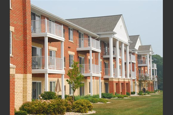 Private Patios and Balconies at Wildwood Highlands Apartments & Townhomes 55+, Menomonee Falls, WI,53051